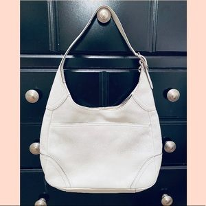 Coach White Leather Hobo